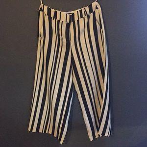 River Island wide leg cropped striped pants