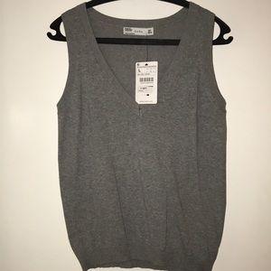 Zara gray Sweater Vest