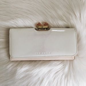 Ted Baker Pink and White Leather Wallet