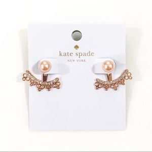Kate Spade Rose Gold Chantilly Charm Ear Jackets