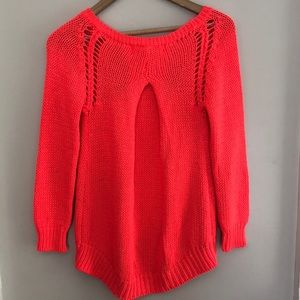 Zara neon knit sweater