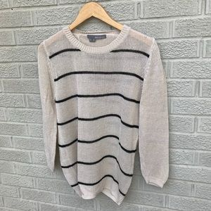 360Sweater Open Back Cross Over Loose Knit Sweater