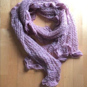 Pale Pink scarf  with chiffon raffles