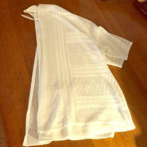 White Open Cardigan Sweater