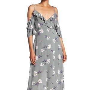 Romeo & Juliet Couture Surplice Neck Cold Shoulder