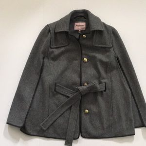 Juicy Couture Gray Wool Cape S