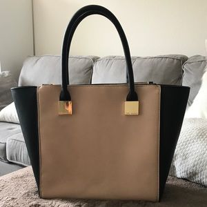 Ted Baker Teryn Zip Detail Crosshatch Shopper Bag