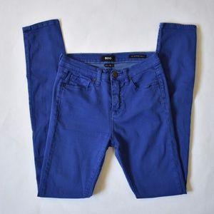 BDG High Rise Cigarette Long Jeans-Blue-27