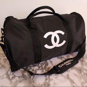 Authentic Chanel VIP Gym Duffle Travel Bag