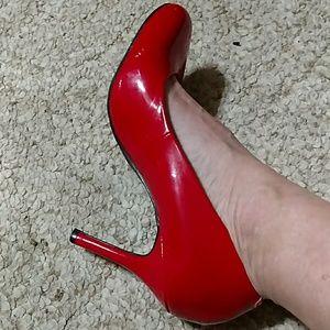 Liz Claiborne ruby red heels