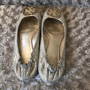Tory Burch Shoes - Tory Burch Gold Metallic Flats