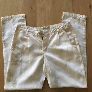 Cropped Linen Pants Trousers By Marrakech