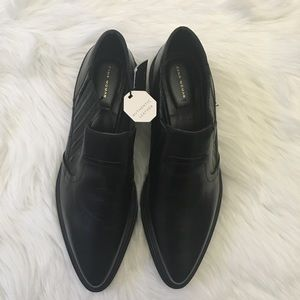 Zara black leather shoes