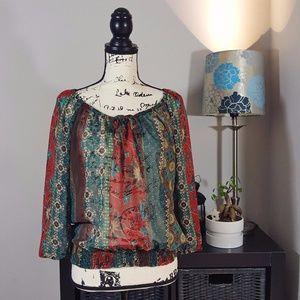 American Rag women's floral blouse M