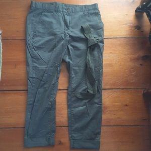 GAP green khakis straight leg
