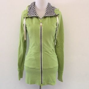 Lululemon Lime Green Full Zip Hoodie Jacket size 4
