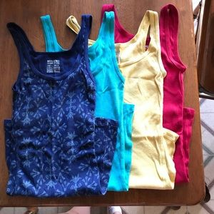 Assorted Mossimo long and lean tanks