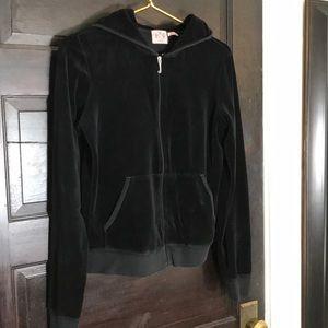Juicy Couture Black Velour jacket XL