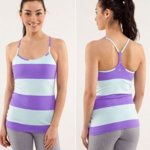 Lululemon Sz 4 Power Y Tank Top Bold Stripe Power