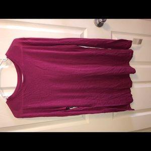 NWT pink maternity shirt size  XXL
