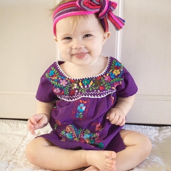 cielito lindo dresses mexican traditional dress baby girl purple
