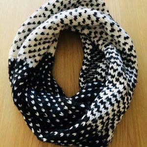 Black and White Infinity Scarf, Old Navy