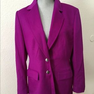 Escada Margaretha Ley Purple Blazer Wool 40 Large