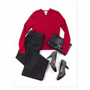 Ann Taylor Charcoal Grey Stretch Wool Pants 8