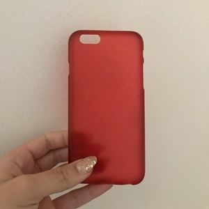 Accessories - Red iPhone 6/6s Silicone Phone Case