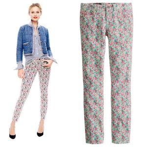 J. Crew Liberty Floral Toothpick Jeans