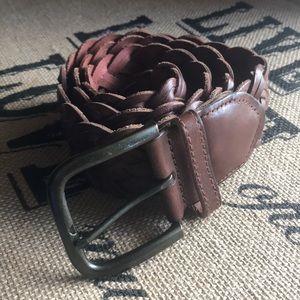 Gap Wide Weaved Leather Belt Size Medium