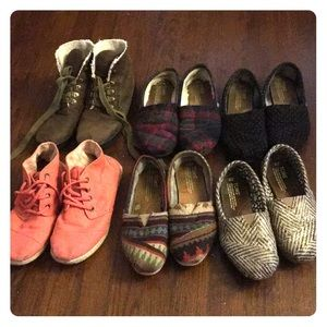 Lot of 6 Toms shoes