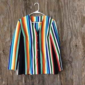 Vintage 60's Striped Button Down Jacket