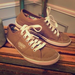 Coach 'Elen' Canvas Sneakers | Taupe