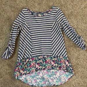 Striped/Floral Anthropologie shirt