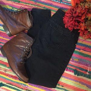 Dark denim high waisted skinny Refuge jeans 10