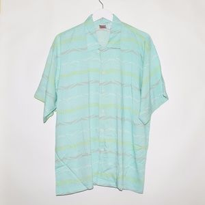Rare 90's Vintage VTG Nike Men's Rayon Button Up