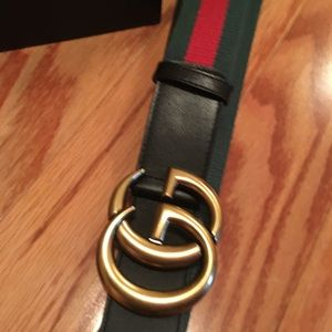 Gucci webbed belt