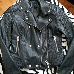 Forever21 Black Lightweight Faux Leather Jacket