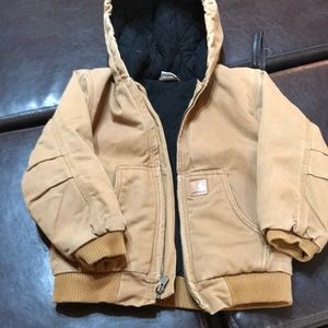 Boys size 7 carhartt coat.