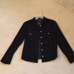 NWT BCBGMaxAzria fine cord buttondown jacket shirt