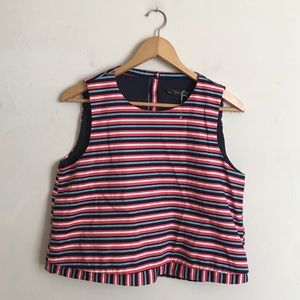 Zara NWT Striped Cropped Tank size Large