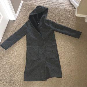 Dark grey, forever 21 wool coat, women's S