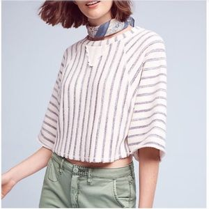 Anthropologie Dolan cropped striped pullover
