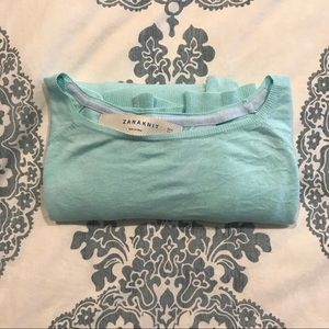 ZARA • Mint Open Back Sweater