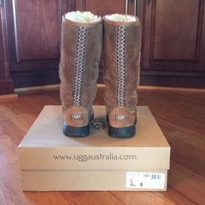 Ugg Ultimate Tall Braid Boots Size 6