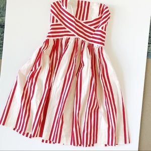 Anthropologie Archival Striped Strapless Dress