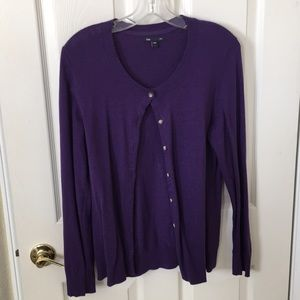 Purple cardigan from Gap in size L