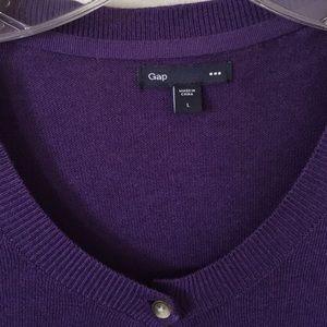 GAP Sweaters - Purple cardigan from Gap in size L