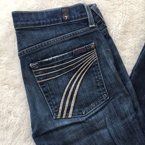 """7 for All Mankind Wide Leg Jeans size 27x27"""""""